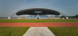 footbal stadium and running track